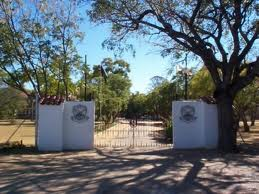 Portals to Plumtree school. The school gates.