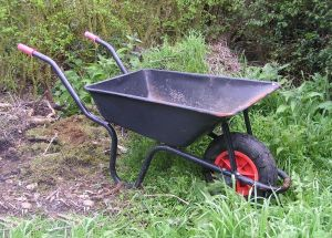 The wheelbarrow.