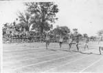 The 100 metre dash at sports week-end.Plumtree School.