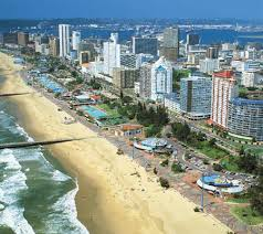 View of strip Durban, Natal.