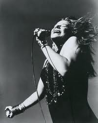 Janis Joplin doing what she was best at.