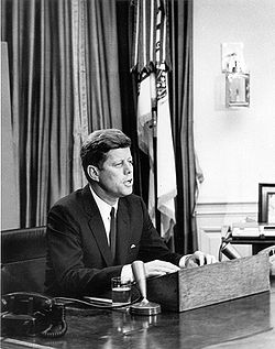 JFK addressing Civil Rights issues.