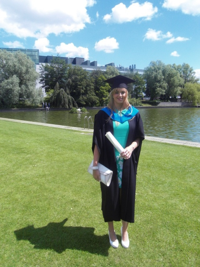 Siobhan graduated as a nurse specialising in childrens problems.